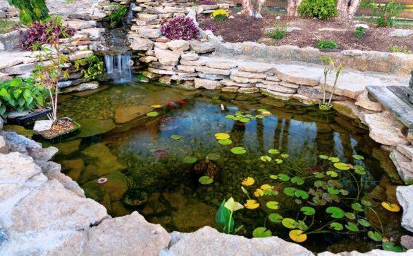Создание прудов и водоемов, водопадов и ручьев