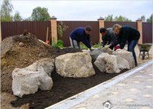 Установка и группировка природного камня