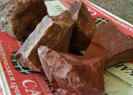 Камень для бань и саун Малиновый кварцит