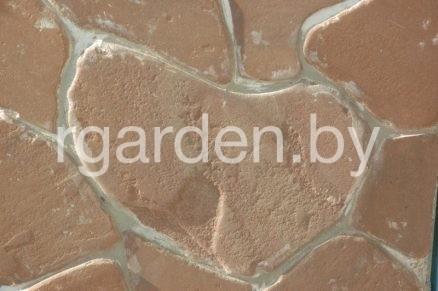 Песчаник Терракотово-красный галтованный
