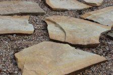Песчаник Желтый пошаговый для мощения