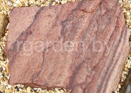 Песчаник Малиновый для мощения