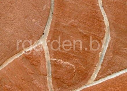 Песчаник Терракотово-красный для мощения
