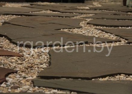 Песчаник Серо-зеленый пошаговый для мощения
