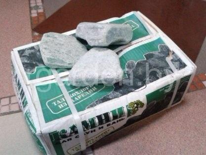 Камень для бань и саун Талькохлорит обвалованный