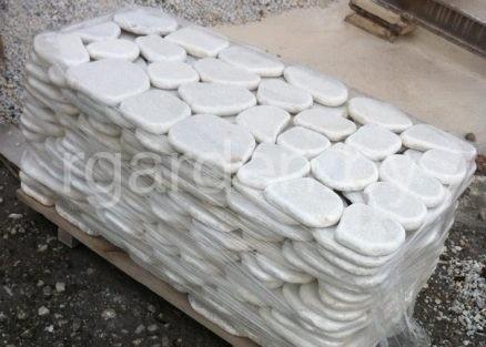 Мрамор Белый галтованный