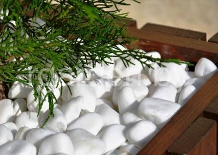 Галька мраморная Белая Тасос