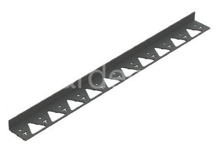 Пластиковый бордюр черный 1000х45х80