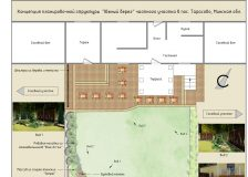 Новый план участка с озеленением