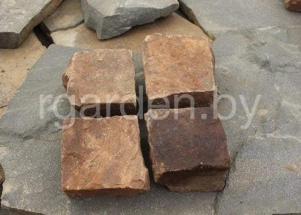 Брусчатка из песчаника Терракотово-красный колотая для мощения