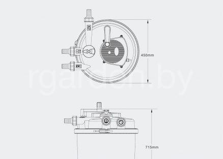 Фильтр для пруда напорный CPF-30000