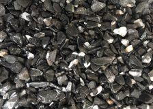 Мраморная крошка Черная галтованная