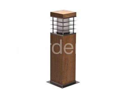 Светильник для дорожек из Тика TSS-8-SHORT