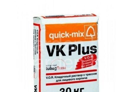 Кладочный раствор для лицевого кирпича VK Plus